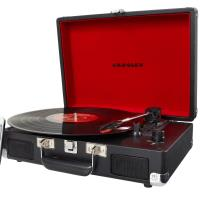 PORTABLE TURNTABLE WITH BUILT-IN SPEAKERS (RED)